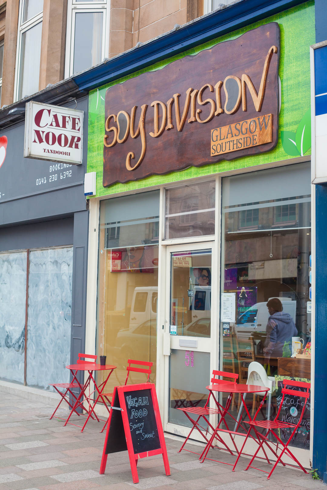 Vegan Restaurant Review: Soy Division Glasgow | Soy Division is an unassuming vegan cafe in the Southside of Glasgow, that would not only win the award for best vegan name in my books, but also serves up delicious homemade vegan breakfast and lunch fare, like meatless cooked breakfasts, dairy-free cheesecakes and fluffy French toasts!