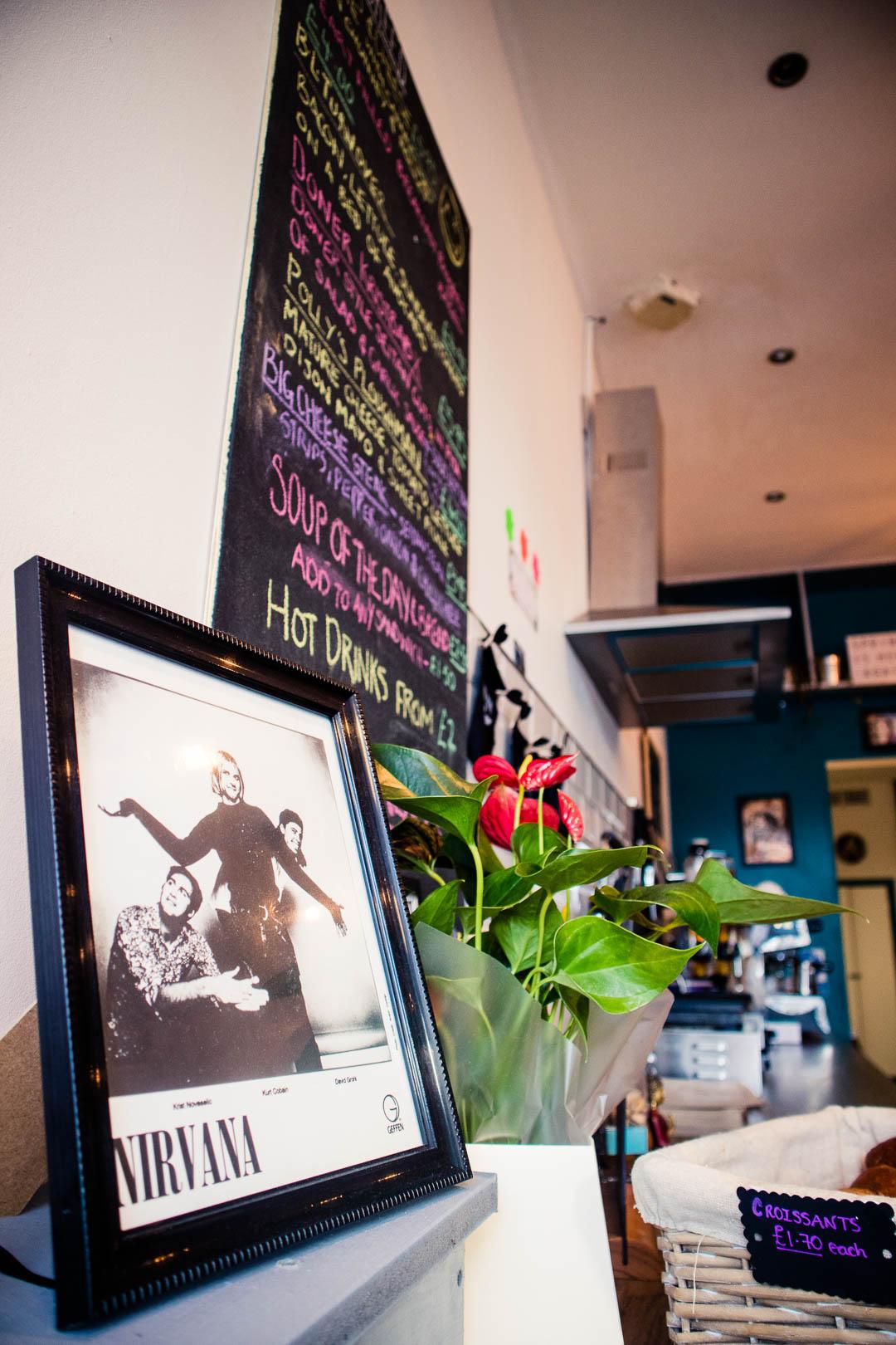 Nirvana memorabilia decorates all of In Bloom Glasgow.