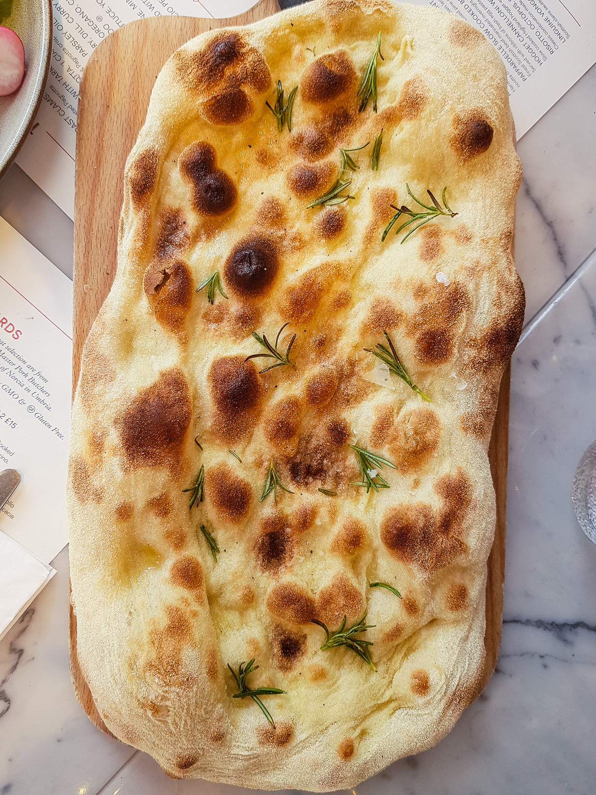 Focaccia at Eusebi Deli in Glasgow.