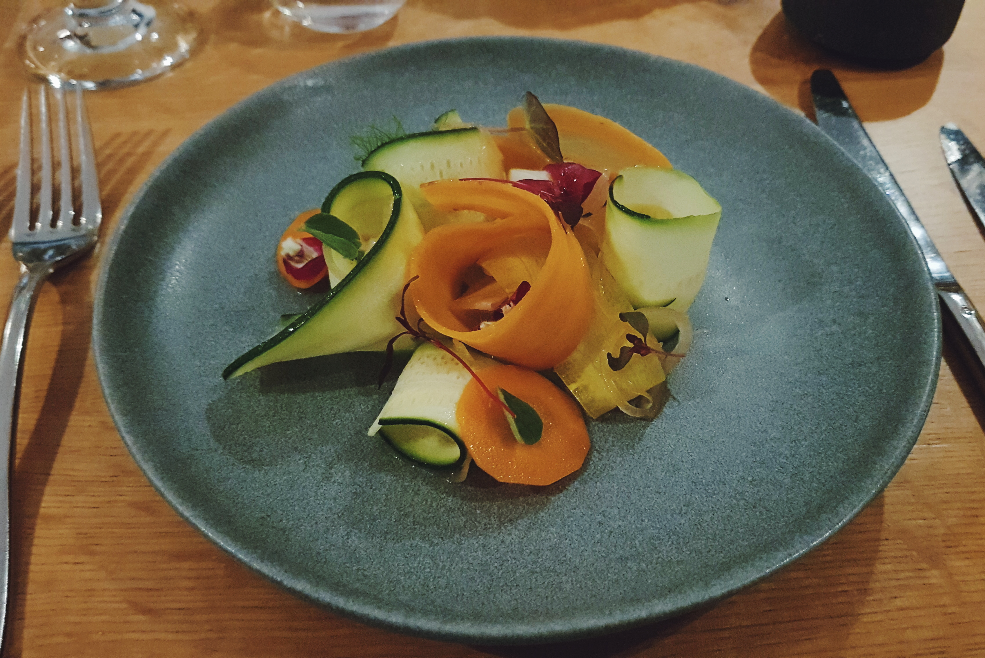 Vegan salad starter at The Gannet Glasgow