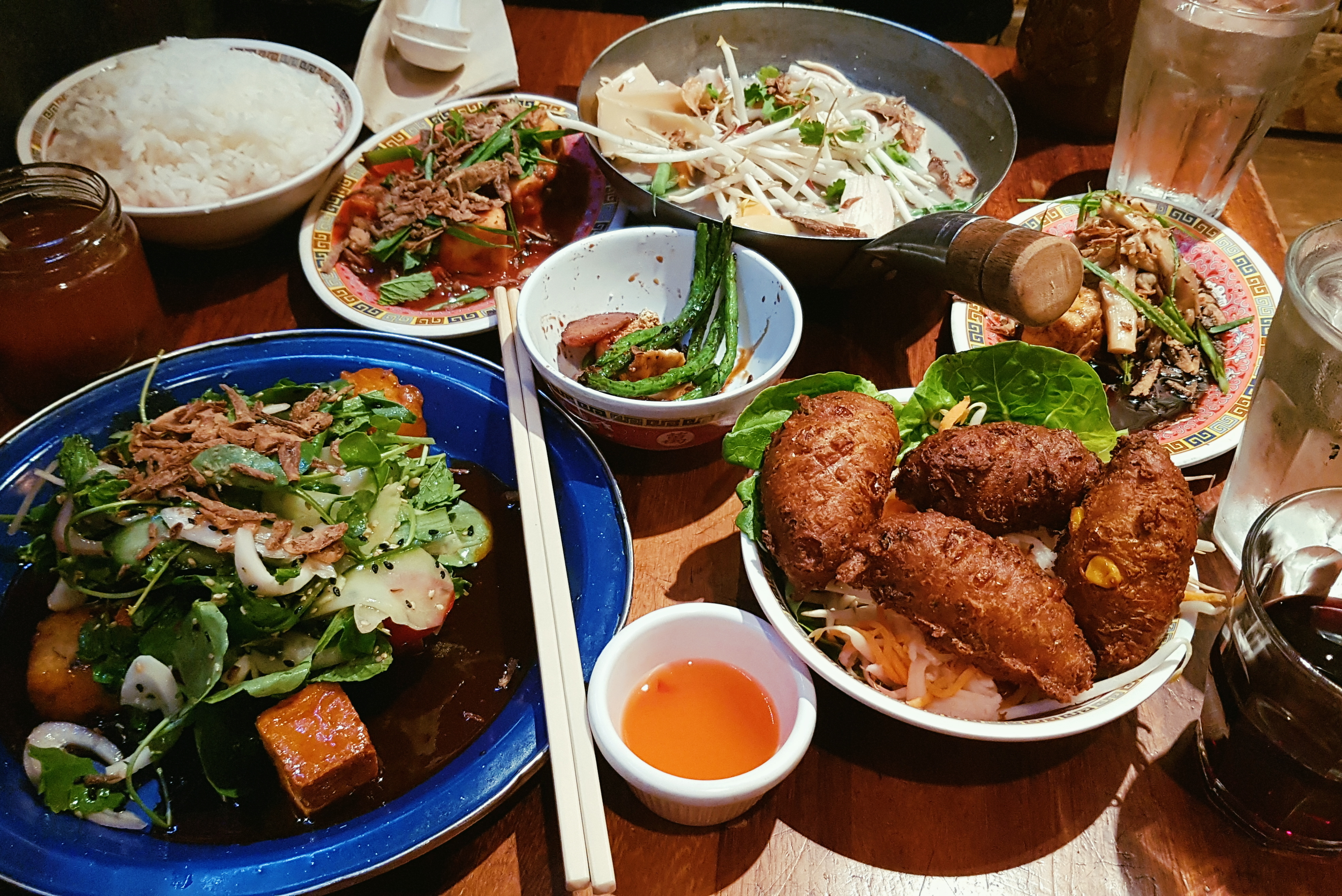 Hanoi Bike Shop Glasgow - Feed Me Vegan feast