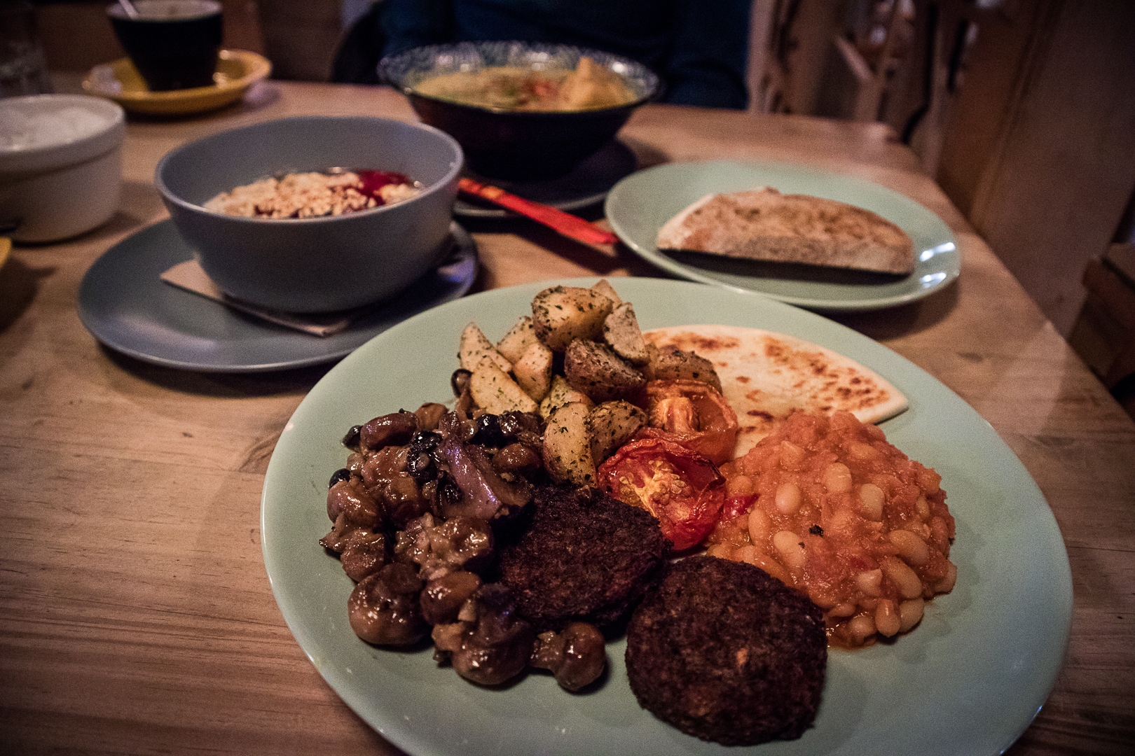 Vegan breakfast  at Hen of the Woods Glasgow at the Glad Cafe