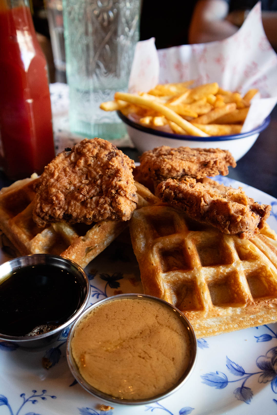 Vegan chicken waffles and burgers at Absurd Bird Glasgow